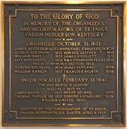 A bronze plaque in the sanctuary of St. Paul's Episcopal Church notes that James Alves, who as senior warden was the top lay leader, was an organizer in 1931 and later incorporate of the St. Paul's parish.