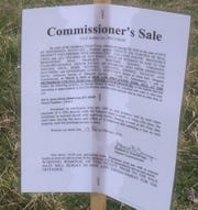 The notice at 431 S. Alves gives details about the upcoming Master Commissioner sale.