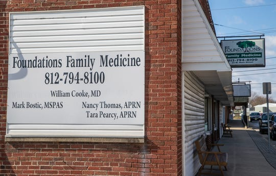 Foundations Family Medicine, located at 25 West Main Street in Austin, Ind., on Thursday, Feb. 27, 2020. Dr. Will Cooke, who started the practice, is a family physician who won a national award for his work in the community and was a powerful advocate for needle exchange programs in Indiana during an HIV outbreak due to opioid abuse.
