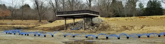 These unique man-made fish habitat structures were stretched along the Kent Park Lake bottom near a fishing dock when the lake was drained in 2018. It was filled by October of last year.