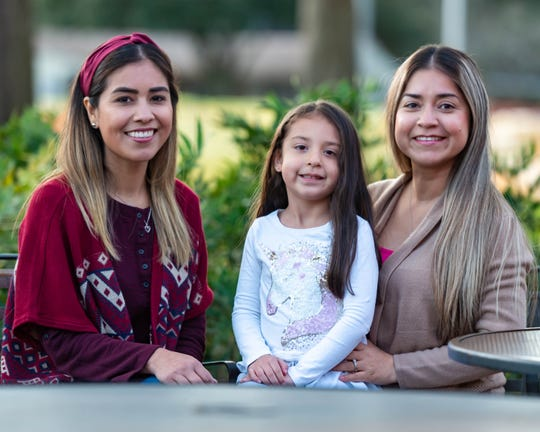 Sisters Dulce Perez and Erika Rocha teach together at Alice Boucher Elementary. They are from Matamoros, Mexico, and teach Spanish immersion in Lafayette. Rocha's 4-year-old daughter Alynna enjoys having her aunt here for a few years.