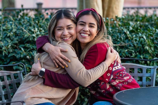 Sisters Erika Rocha and Dulce Perez teach together at Alice Boucher Elementary. They are from Matamoros, Mexico, and teach Spanish immersion in Lafayette.