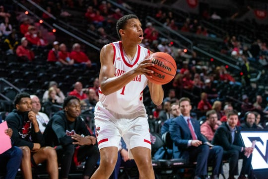 Jalen Johnson, who plans to leave UL, shoots during a game against Arkansas State in February at the Cajundome.