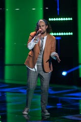 "THE VOICE -- ""Blind Auditions"" Episode 1802 -- Pictured: Zach Day -- (Photo by: Mitchell Haddad/NBC)"