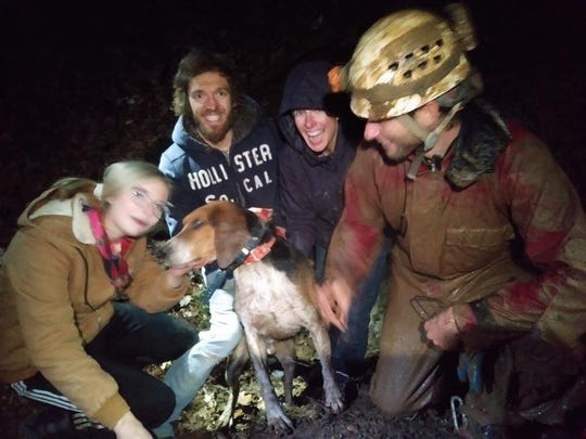"""Neal Brewington, along with National Cave Rescue Commission coordinator Anmar Mirza, and other NCRC members and cavers including Laura Demarest, Danyele Green, Kevin Romanak, Grace Bohnenkamp, and Cole Reynolds, helped rescue """"BuzzMan."""""""