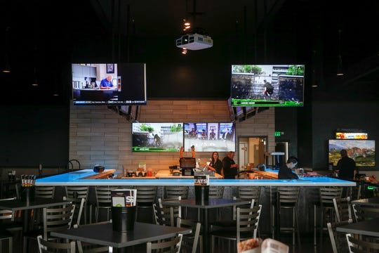 The bar area at Cinergy Tulsa on Thursday, April 4, 2019. IAN MAULE/Tulsa World