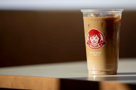 The chocolate Frosty-ccino on Thursday, Feb. 27, 2020, at Wendy's on Elvis Presley Boulevard in Memphis.