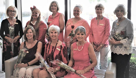 From left, front: Betsy Geis, Diana Dewel and Rosemary Enners; back: Connie Soron, Jill Sandberg, Anne Vanic, Annette Kuhn, Mary O'Neill and Audrey Snyder.