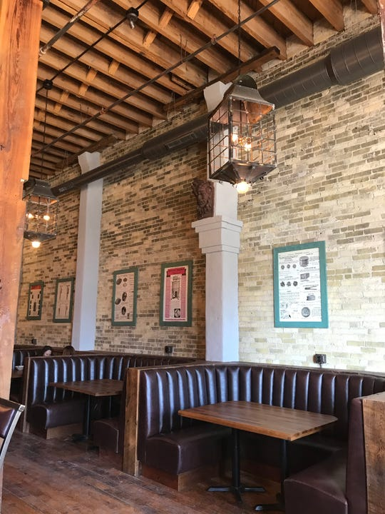 Aperitivo, 311 N. Plankinton Ave., in the Pritzlaff Building, has high ceilings and Cream City brick walls in its 19th-century home. Oversized booths seat five to six people.