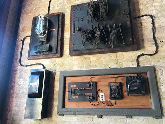 Vintage electrical systems as art in Aperitivo.