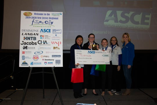 The Tourmalia team, comprised of four 8th grade girls at Frelinghuysen Middle School, took first place at the Future City Regional Competition earlier this month.