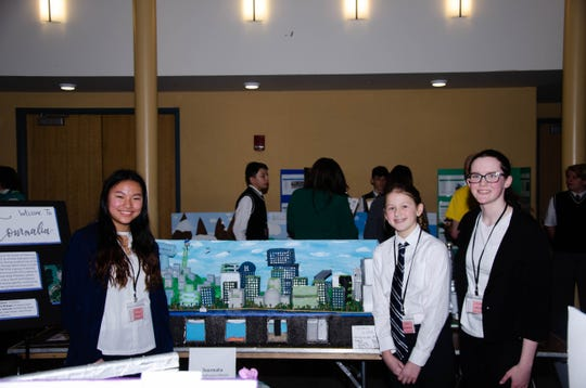 Michelle Lee, Elise Hinrichs, Mary Gillen and Elizabeth Gillen took first place at this Future City Regional Competition in New Jersey.