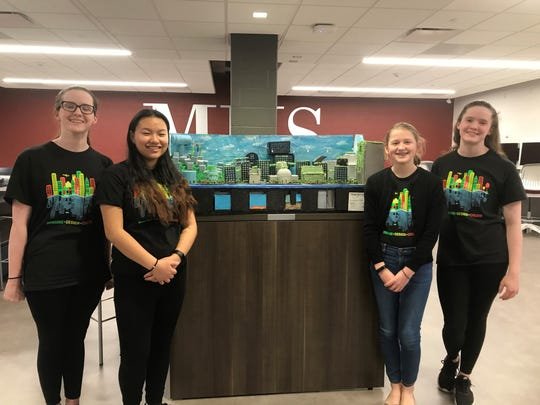 Mary, Michelle, Elise and Elizabeth take top prize at the 2020 New Jersey Future City Competition.