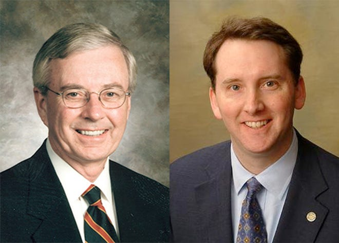 Joseph B. Morton, left, and Jay Love of the Business Education Alliance.