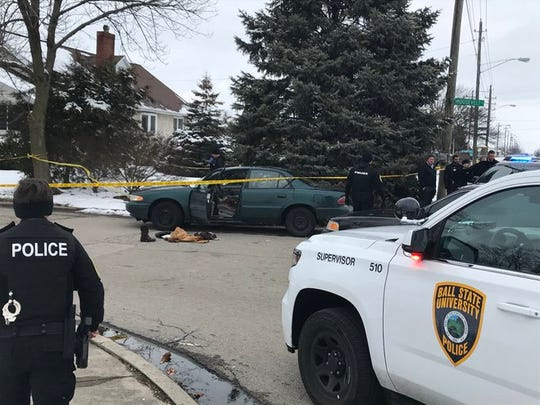 Muncie  police found two shooting victims in a car at Walnut and Roosevelt on the city's north side Thursday afternoon.