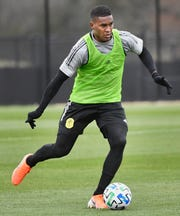 Brayan Beckeles as Nashville SC opened up a training session to the media during their inaugural season in Brentwood, Tenn. Tuesday, Feb. 25, 2020.