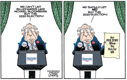 Bernie Sanders on buying election.