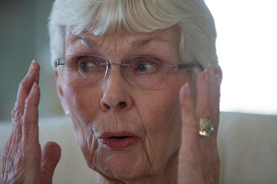 Ann DeVries, 83, recounts the story of how she lost her ring during an interview, Thursday, Feb. 27, 2020, in East Naples.