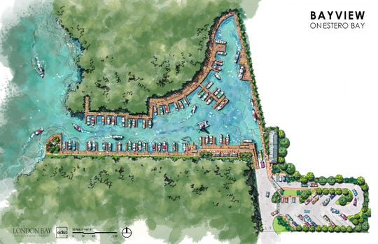 A rendering of the marina portion of Bayview on Estero Bay, a proposed senior living community on the former Weeks Fish Camp in Bonita Springs.