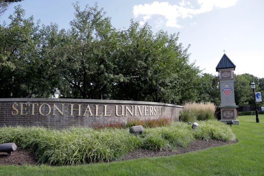 A general view of the main entrance to Seton Hall University in South Orange, N.J.