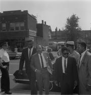 The Rev. Dr. Martin Luther King Jr. visits the Union Baptist Church on Midland Ave. in Montclair, NJ. September 11, 1966