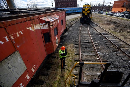 Tom Fahy with the NY and Greenwood Lake Railroad Police keeps an eye on the rail cars near Wall Street in Passaic on Thursday February 27, 2020.