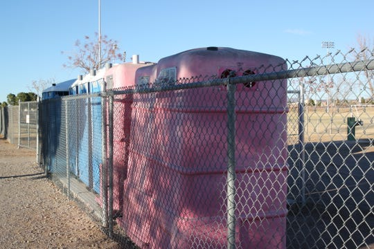 Porta-potties at High Noon Soccer Complex on Dec. 13, 2019. The Las Cruces Friends of Soccer hopes these get swapped for brick-and-mortar bathrooms using capital funding secured from the state.