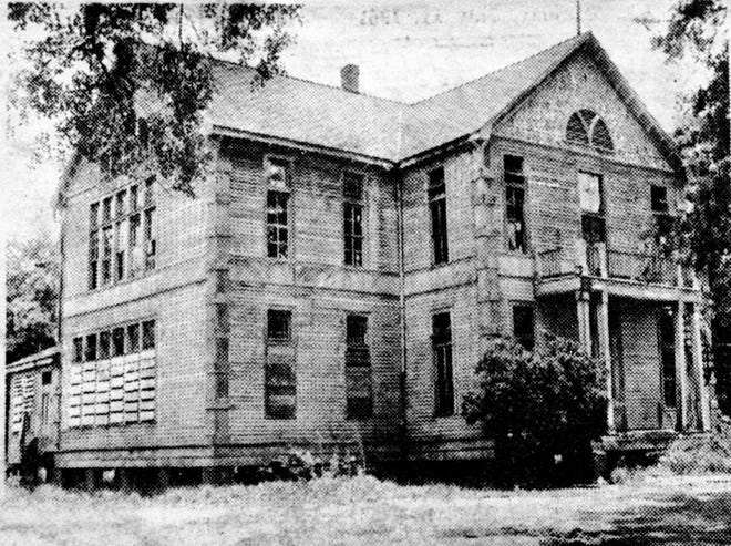 The St. Landry Training School on the corner of Vine and Academy streets as it appeared in 1961. This building was built on Market Street in 1893 as the St. Landry High School and moved to this location in 1918 to eventually become the St. Landry Training School.  The building was demolished in the latter part of 1961.