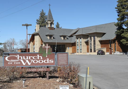 The Church of the Woods current location is in a residential neighborhood in Lake Arrowhead, February 26, 2020.