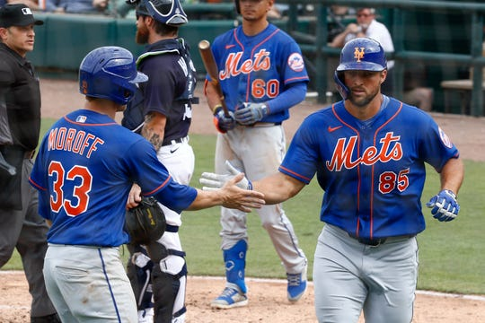 New York Mets outfielder Tim Tebow (85) is going to play for the Philippines in a qualifying tournament for the World Baseball Classic.