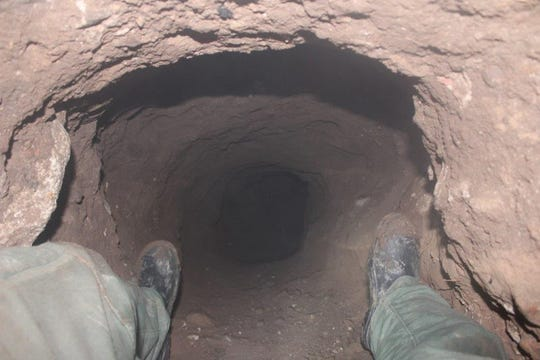 Arizona and Mexico border agents found an unfinished30-foot tunnel underneath the streets of Nogales on Feb. 25, 2020.