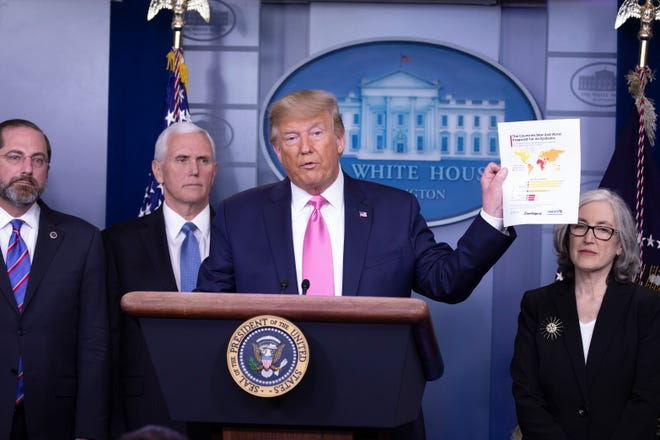 Donald Trump dijo que EEUU estaba muy preparado para el brote.