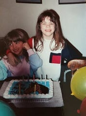 Melissa Baker celebrates her 8th birthday.