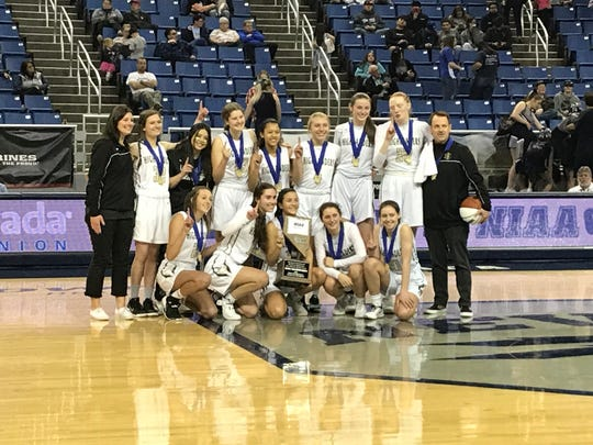 The Incline girls basketball team won the 2A state championship on Thursday at Lawlor Events Center.