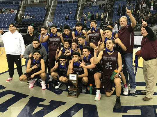West Wendover beat Incline, 61-54, for the boys 2A state basketball title on Thursday at Lawlor Events Center.