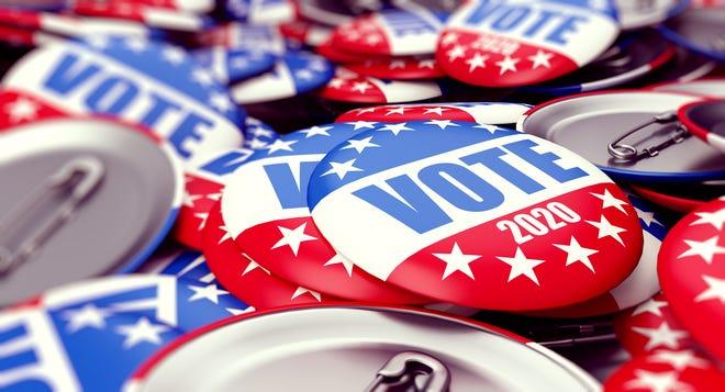 Election badges.