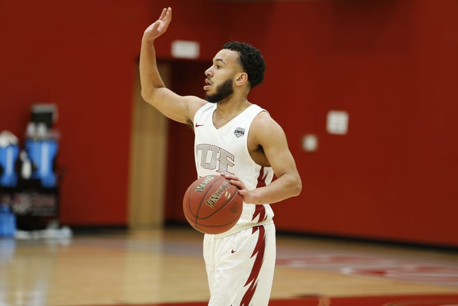 IU East graduating senior Bishop Smith, voted by athletic directors in the conference, was named the 2019-20 River States Conference Male Athlete of the Year.
