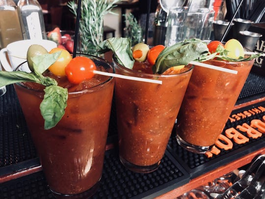 Classic Bloody Mary cocktails are at the ready for brunch service at The Hideaway, 197 Park Ave.