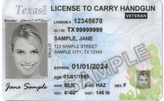 The Texas Department of Public Safety began issuing these newly designed license to carry cards on Feb. 24, 2020.