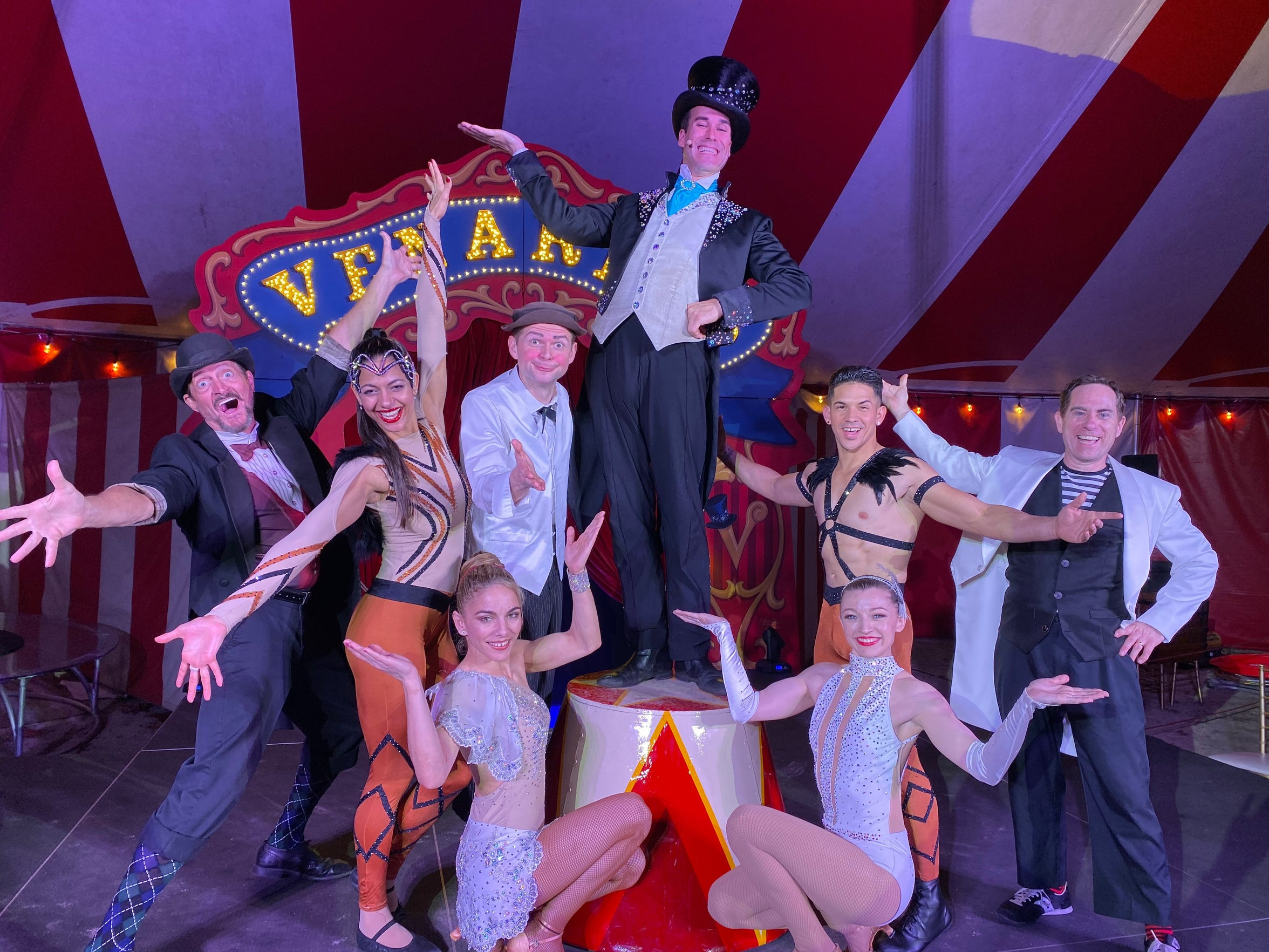 Ringmaster Kevin Venardos(center) and his circus friends. Venardos Circus will make a stop in Shreveport for shows March 4-15 at Riverview Park.