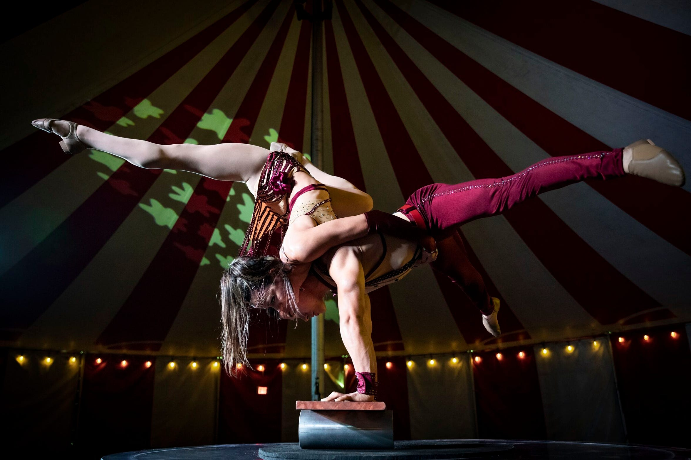 Acrobats at Venardos Circus. The performers will make a stop in Shreveport for shows March 4-15 at Riverview Park.