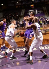 NSU's Jamaure Gregg contributed three steals and three blocks in a 90-59 loss at SFA.