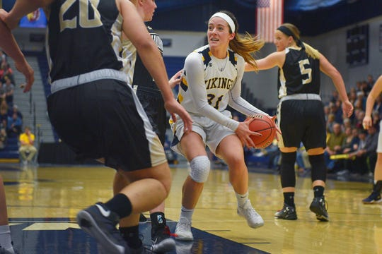 Augustana's Hana Beyer is the NSIC defensive player of the year.