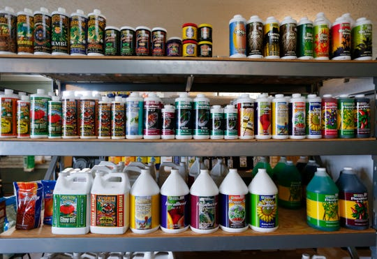 Various hydroponics growing supplies at Indoor Garden Supply on South Stewart Avenue in Springfield.