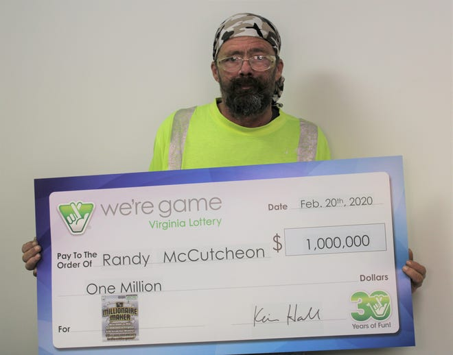 Randy McCutcheon of Craigsville won $1 million off a Virginia Lottery scratcher.
