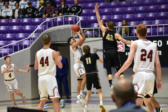 Desert Hills and Cedar face off in the 4A Quarterfinals in the Dee Events Center at Weber State University.