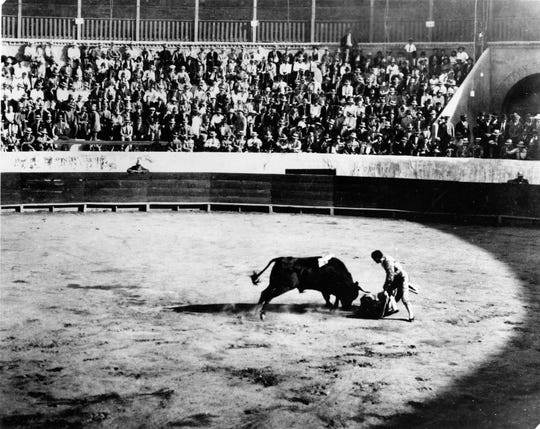 Undated bullfight photograph of a man called the greatest in Spain.