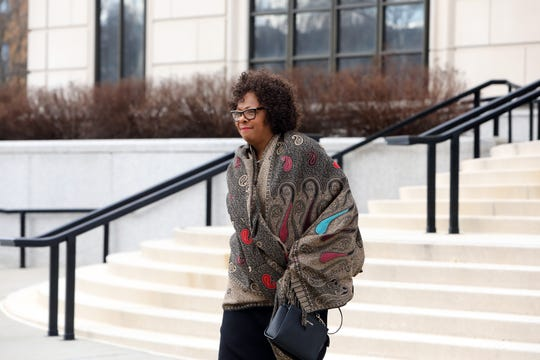 Dr. Deborah Wortham, superintendent of East Ramapo Central School District, leaves United States District Court in White Plains Feb. 27, 2020.