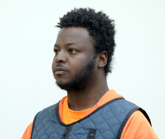 Blanchard Glaudin is arraigned in Rockland County Court in New City Feb. 27, 2020. He is charged with killing Sandra Wilson, a security officer at Finkelstein Memorial Library in Spring Valley.