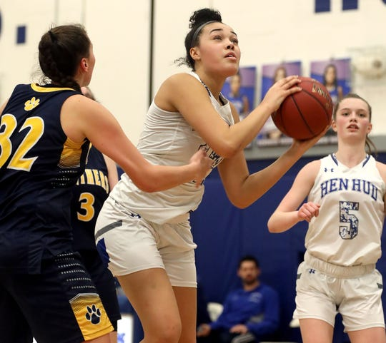 Hendrick Hudson defeats Walter Panas 44-30 during Class A quarterfinal girls basketball game at Hendrick Hudson High School in Montrose Feb. 26, 2020.